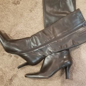 Brown leather boots- women size 7.5